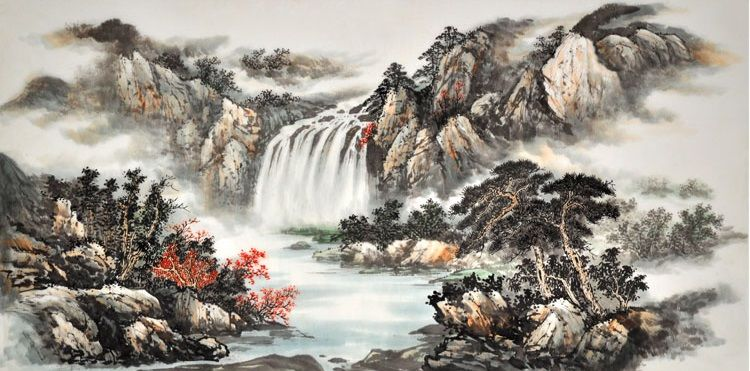 Traditional Nature Painting Art For Sale Chinese Original Landscape Painting
