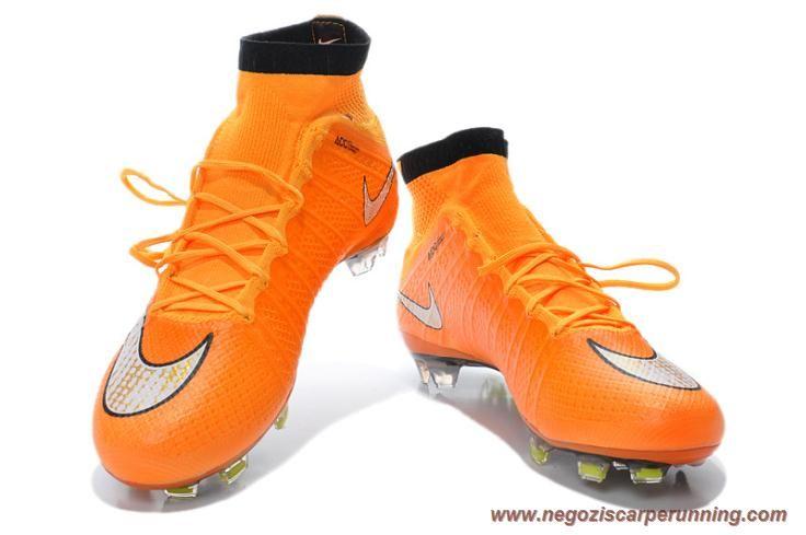 promo code 401e3 86b1e Uomo ACC Arancione Bianco Nike Mercurial Superfly X FG migliori scarpe da  calcetto