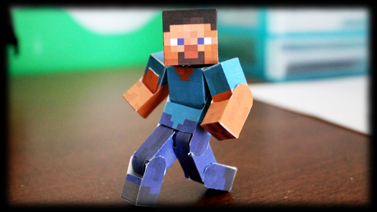 How To Make The Ultimate Bendable Steve Minecraft Papercraft Basteln Ideen
