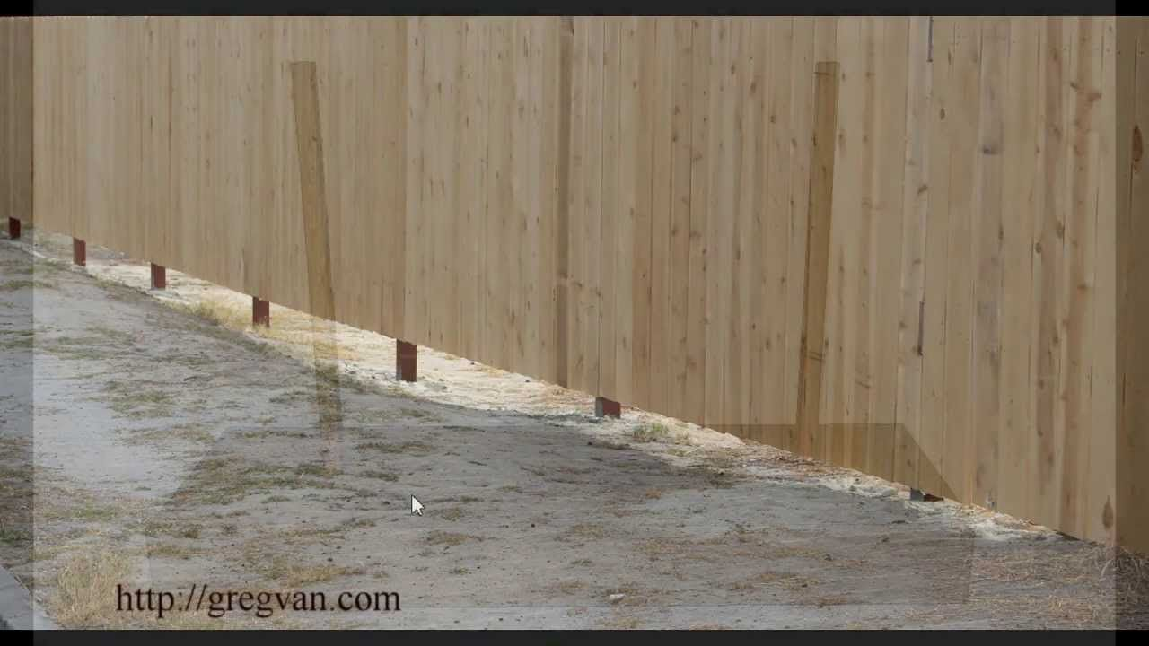 Problems With Uneven Ground And Straight Fences Landscaping And Constr Fence Landscaping Fence Design Modern Fence