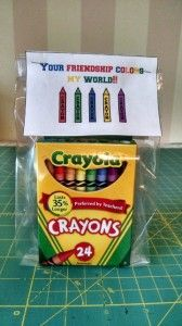 Crayon Class Birthday Favors And Free Printable Birthday Favors Class Birthdays School Birthday Treats