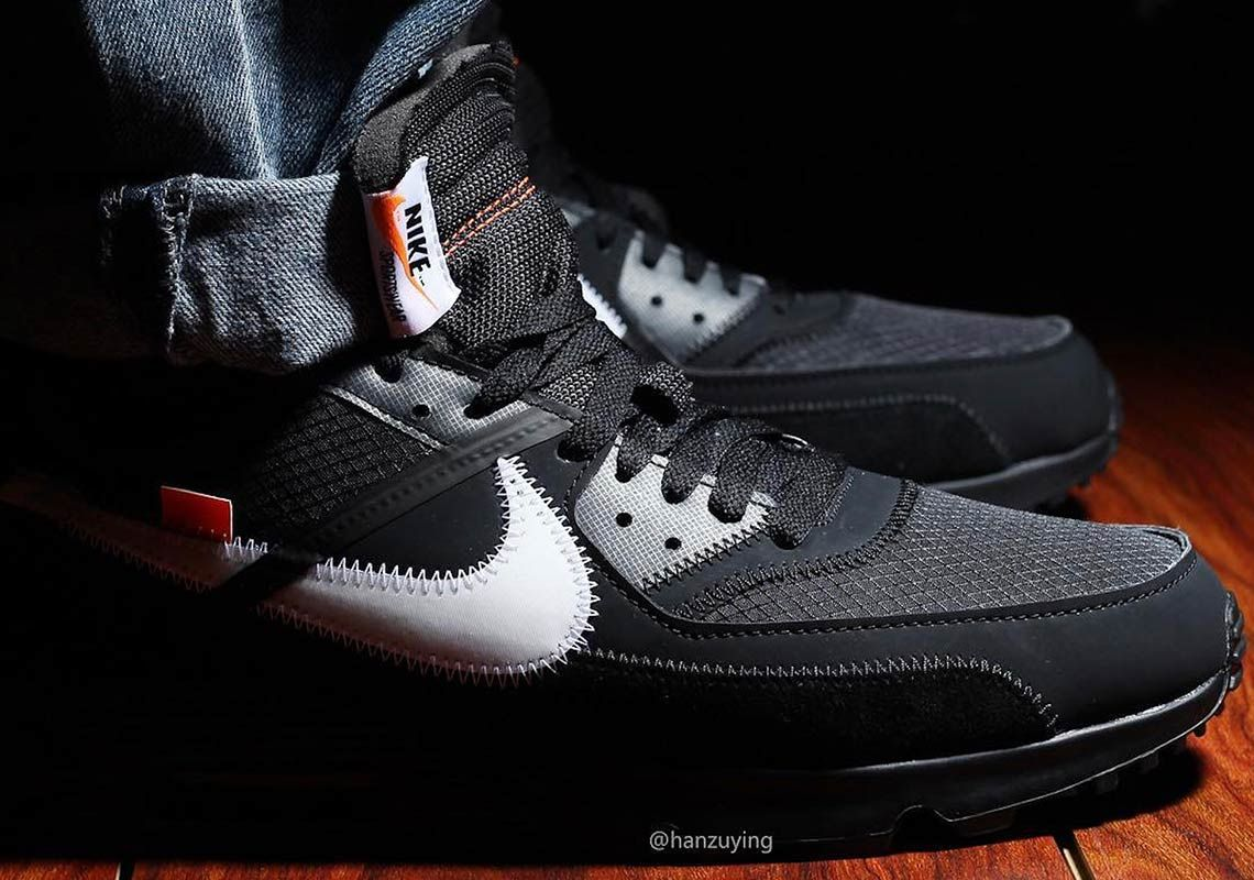 huge discount 6bc2b 431e2 The Off-White x Nike Air Max 90 In Black Is Releasing This ...