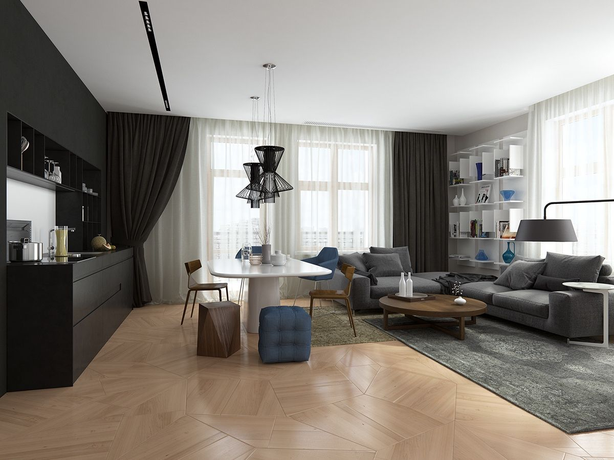 Open Concept Apartments Offer A Sense Of Openness And Visual Freedom But Certainly Present Stylistic Challenges For Designers Residents Alike