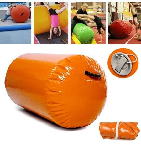 47.2x23.6inch Inflatable Tumbling Oval Mats Airtrack Exercise Tools Gymnastics Air Rolls Balance