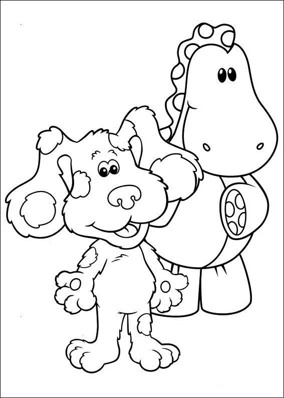 Blue S Clues Coloring Pages 2 Coloring Pages Coloring Pages For Kids Coloring Books
