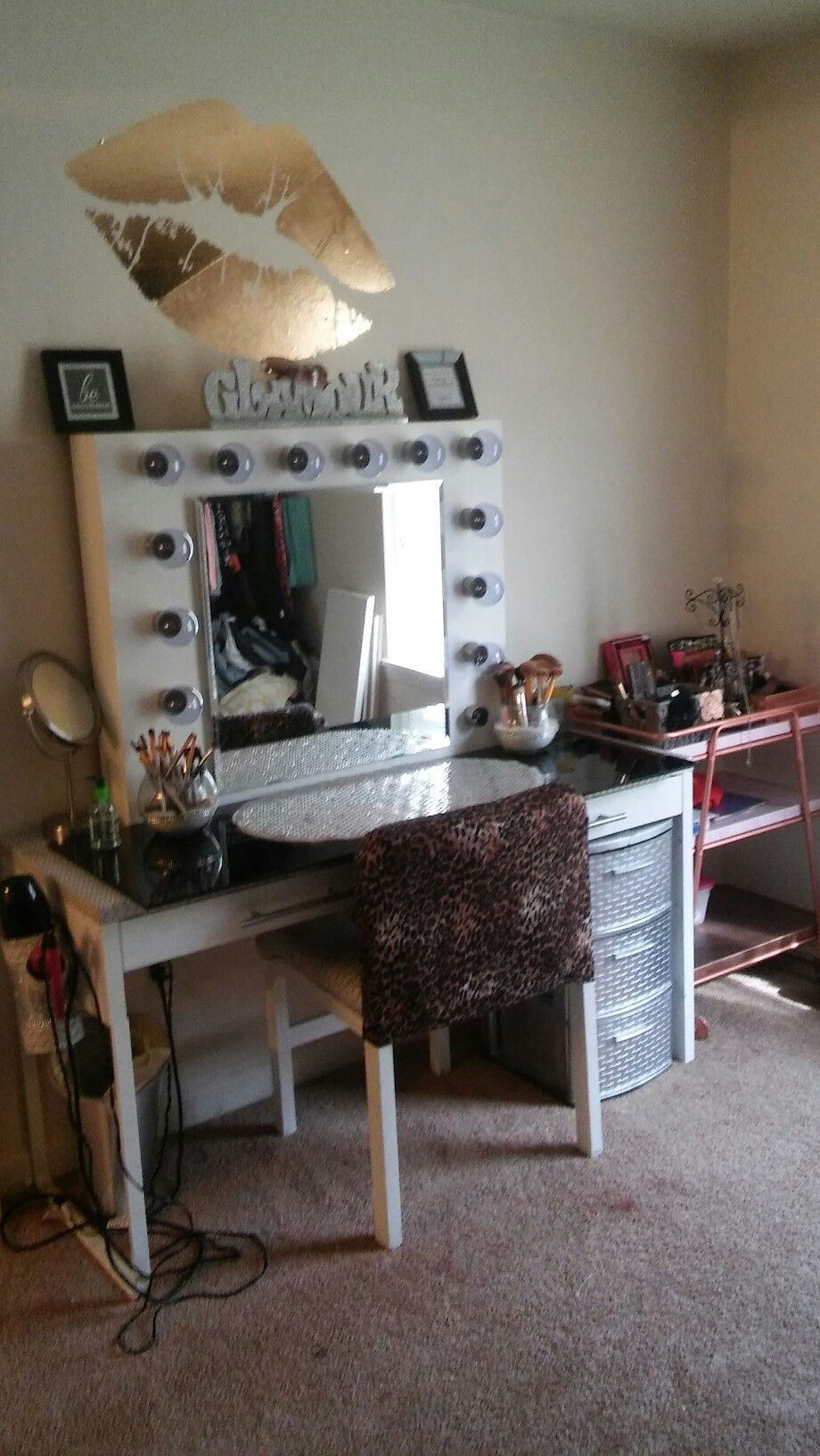 Ikea Micke Desk Hack To Makeup Hollywood Style Vanity Ikea Micke Desk Ikea Micke Desk Hacks