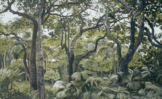 """Maria Sada """"Burle Marx's Garden, oil on canvas 2002"""