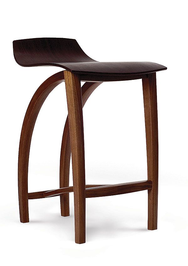 Cantilevered Bar Stool Reader S Gallery Fine Woodworking Handcrafted Stool Fine Furniture Furniture