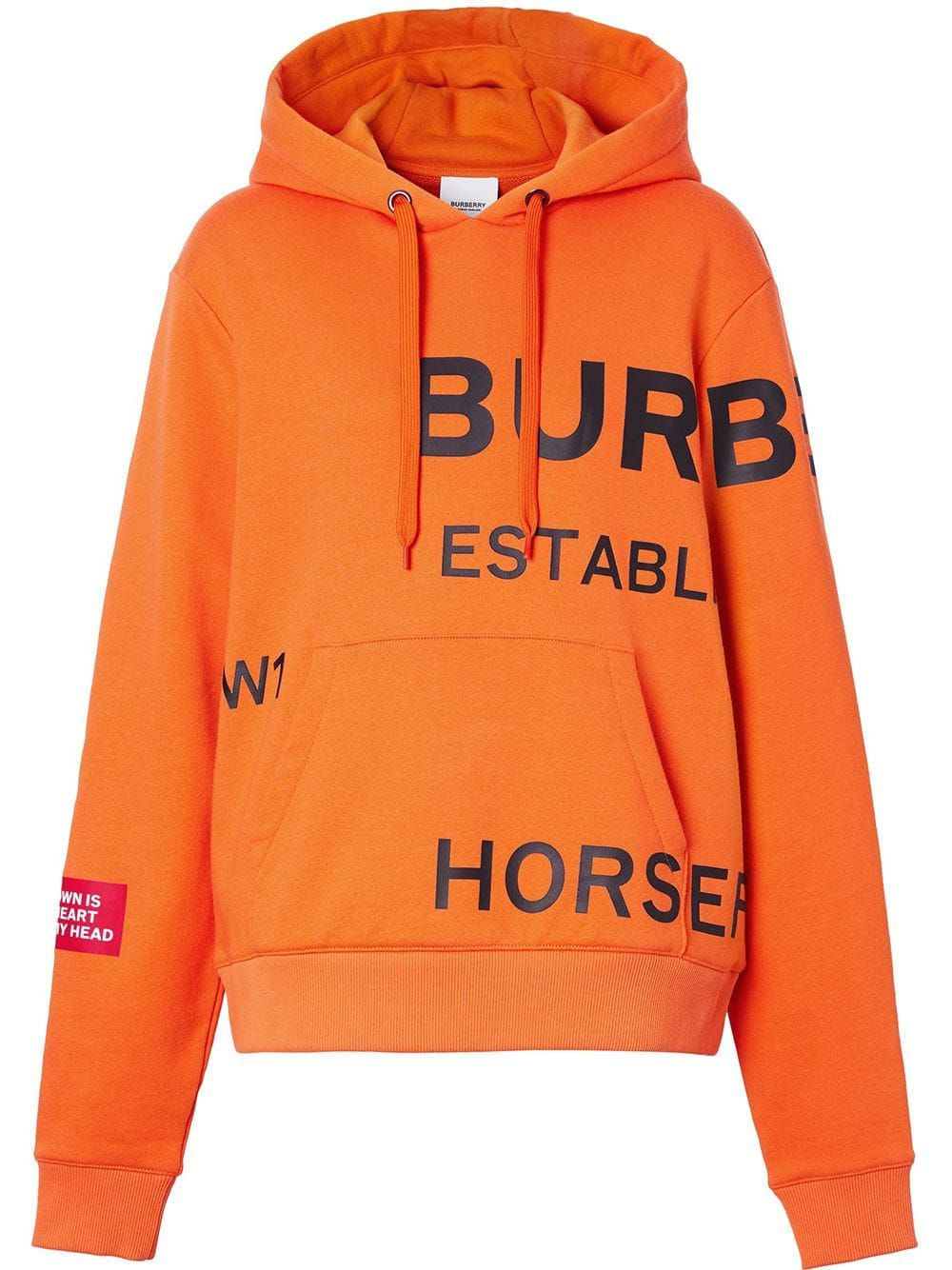 Burberry Horseferry Print Cotton Oversized Hoodie Farfetch Oversize Hoodie Hoodies Sweatshirt Street Style [ 1334 x 1000 Pixel ]