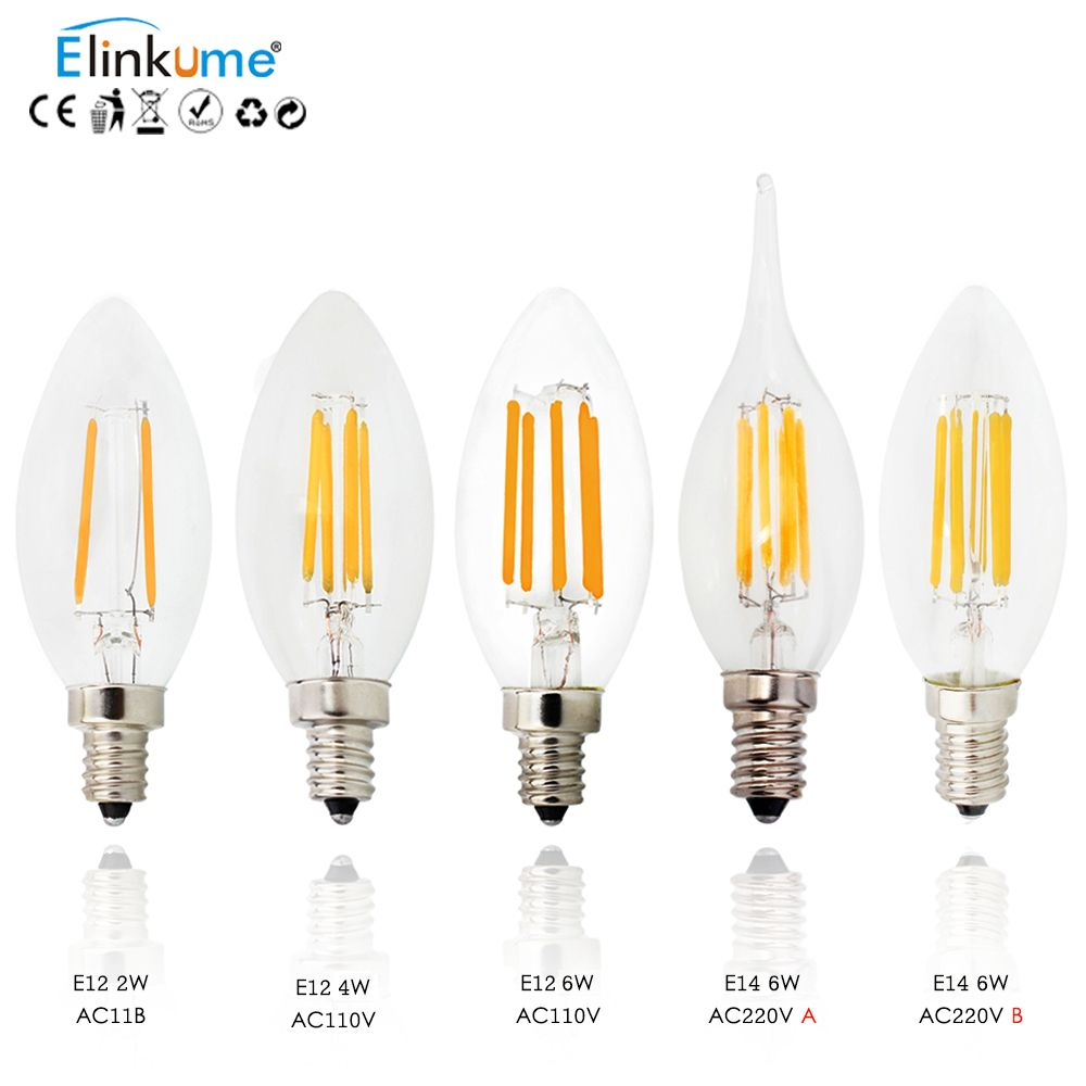 New Design E14 AC220V E12 AC110V LED Filament Candle Bulbs 2W 4W 6W 360 Degree Led Bulb Light Lamp Vintage pendant lamps  EUR 1.72  Meer informatie  http://bit.ly/2nYF65C #aliexpress