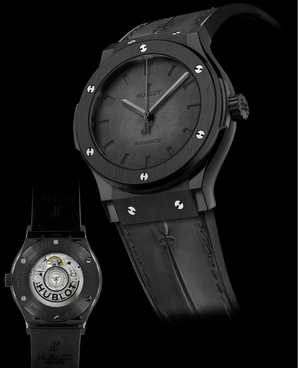 Hublot Classic Fusion Berluti Watch In All Black Scritto Ablogtowatch Hublot Classic Hublot Classic Fusion Hublot