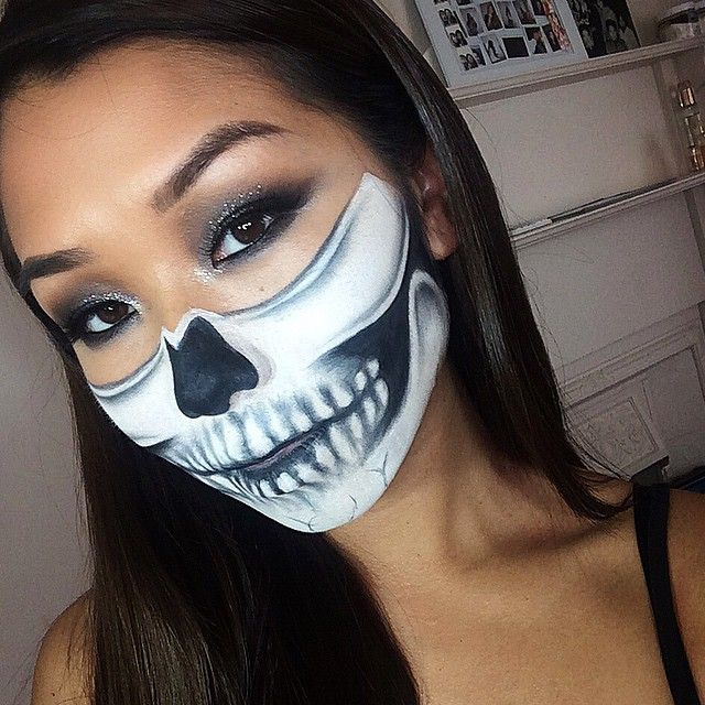 pin for later 32 skeleton makeup transformations for a halloween beyond the grave - Halloween Skeleton Makeup Ideas