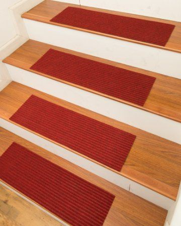 Naturalarearugs Halton Carpet Stair Treads With L And Stick Strips Rug Set Of 13