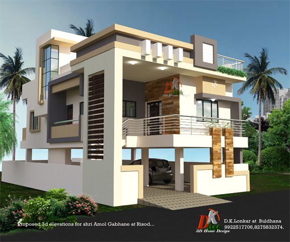 House Floor Design, Modern Style House