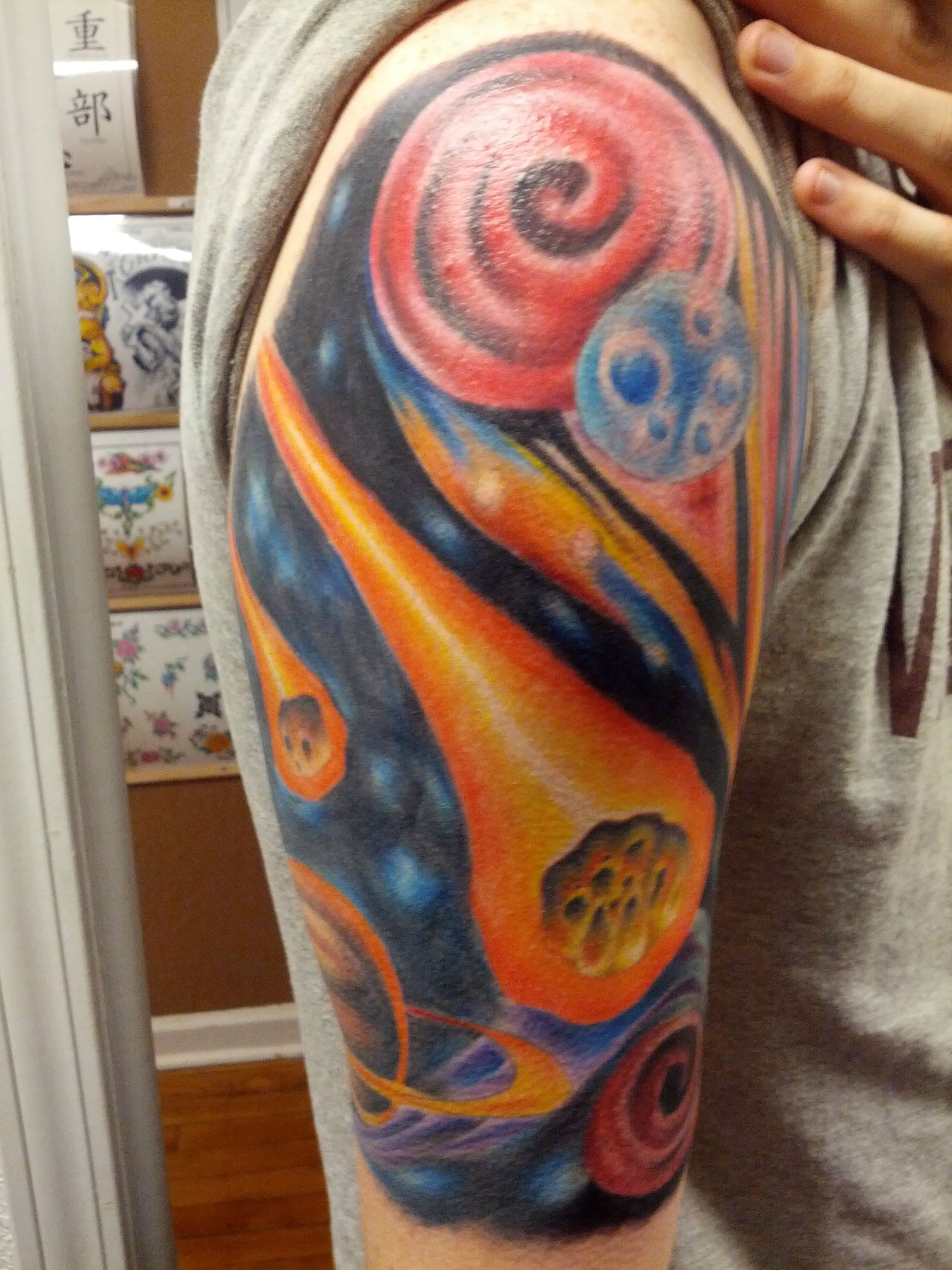 solar system tattoo half sleeve - photo #13