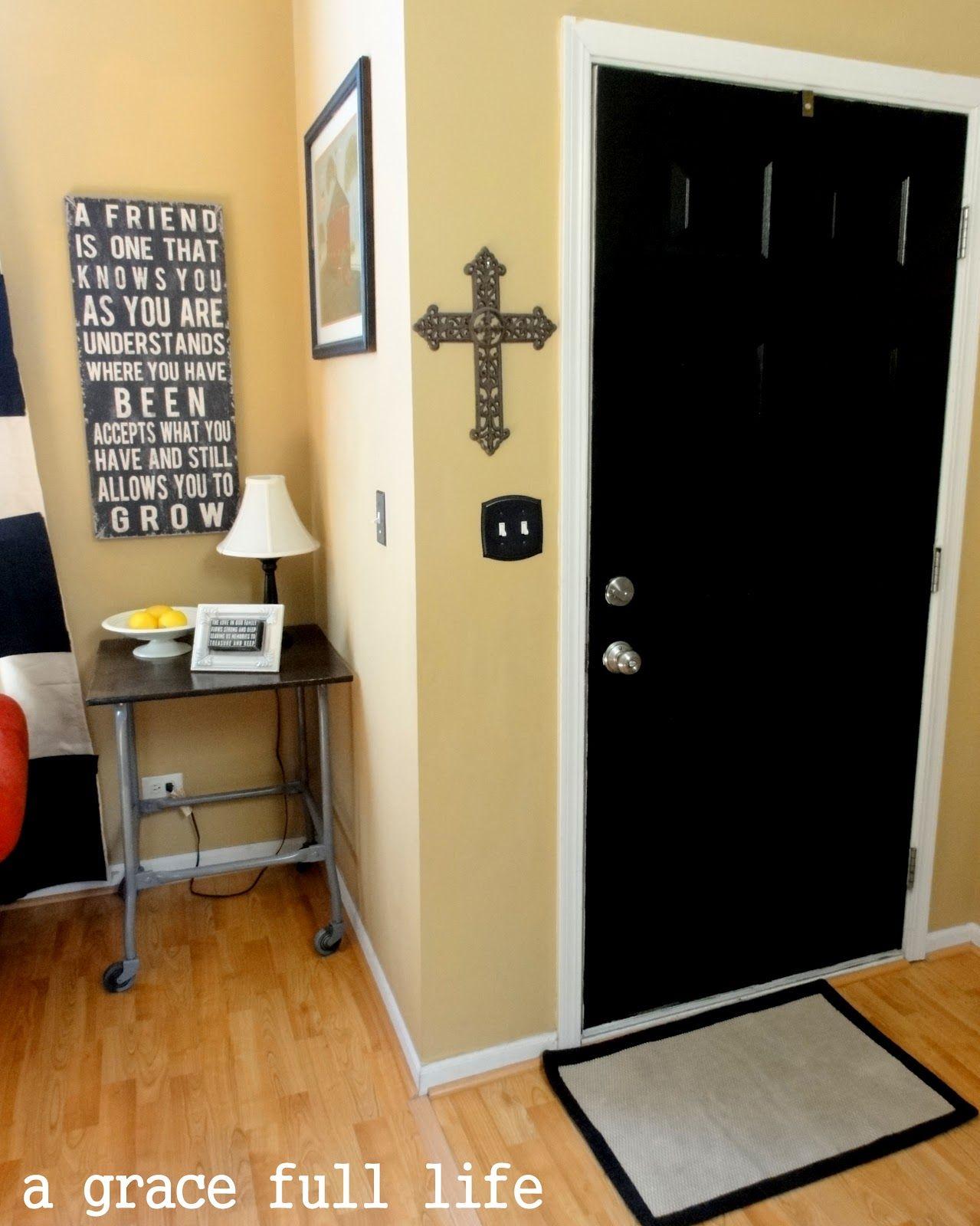 Nice-looking Black Teak Black Interior Doors For Boys Bedroom With ...