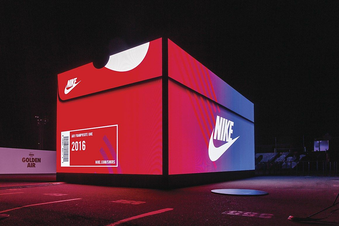 Pop up store, Nike snkrs
