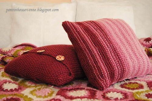 Almofadas em tricot