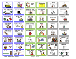 Schedules Behavior Charts Task Icon Cards