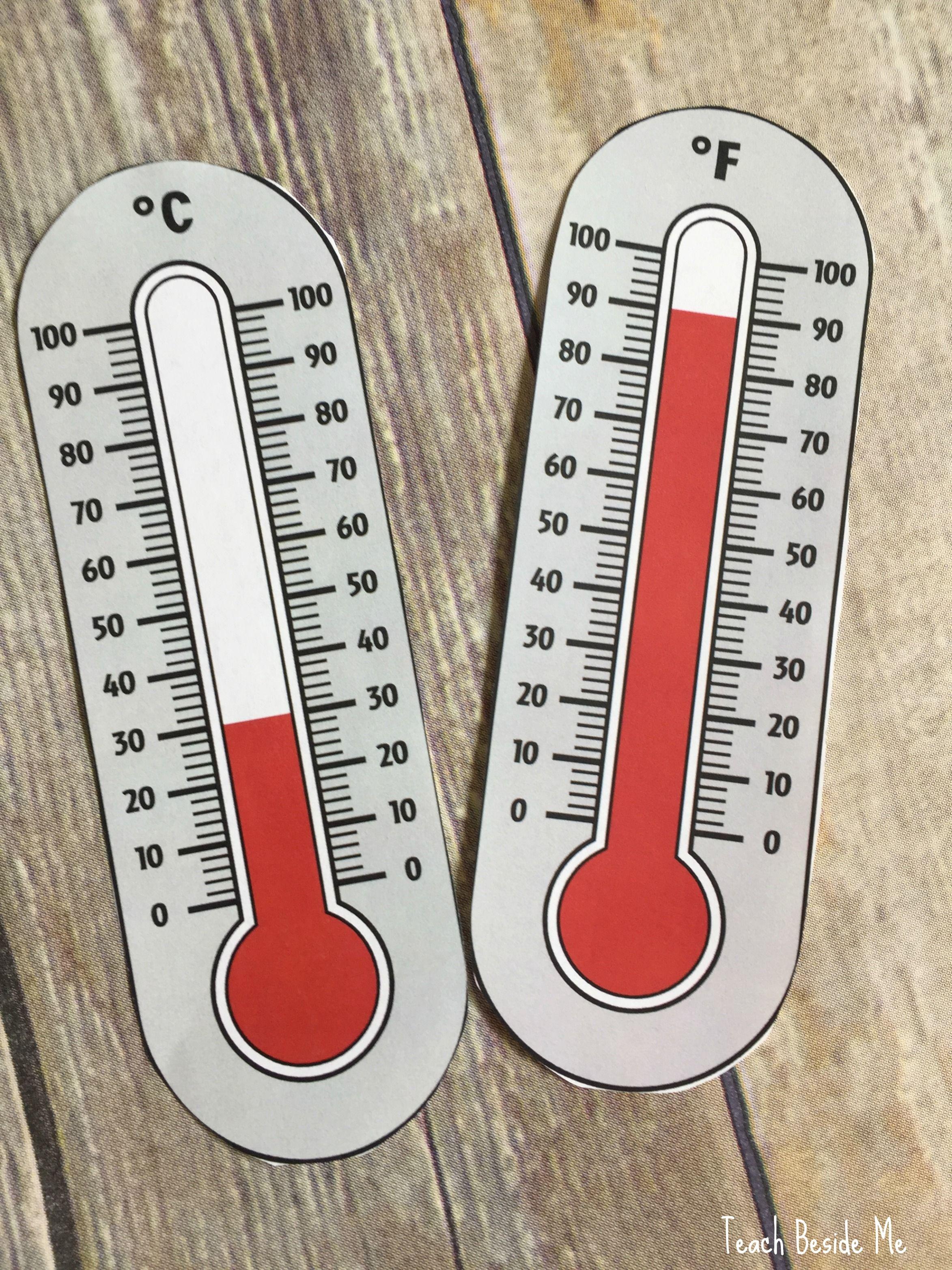 Thermometer Math Temperature Conversions