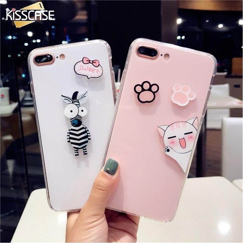 Cute Phone Cases For iPhone 6 6S 7 8 Plus X Girly Back Covers ...