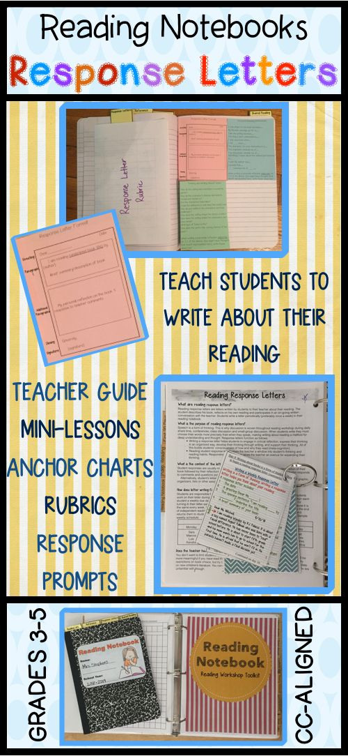 Reading notebook reading response letters rubrics response reading notebook reading response letters rubrics response prompts book logs reading and writing pinterest independent reading reading logs and spiritdancerdesigns Choice Image