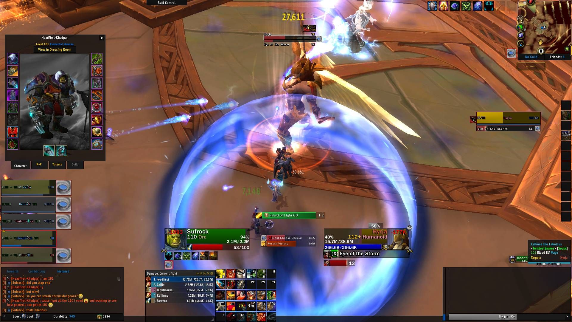 This Ele Shaman in my Normal Dungeon group wanted to see how high his gear could get at level 101. He had 824 ilvl. #worldofwarcraft #blizzard #Hearthstone #wow #Warcraft #BlizzardCS #gaming