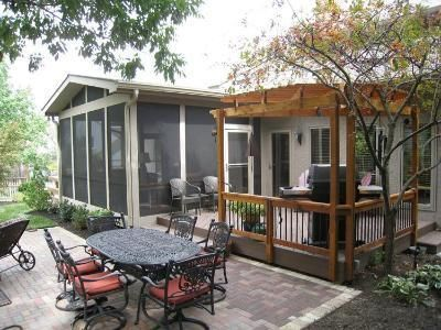 screen porch deck pergola and patio outdoor living archadeck - Outdoor Screened Porches