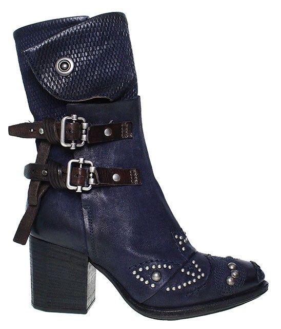 pretty nice 1cba6 fb3a3 AS98 | Airstep Satira | Stiefelette | Cowboy - blau | boots ...