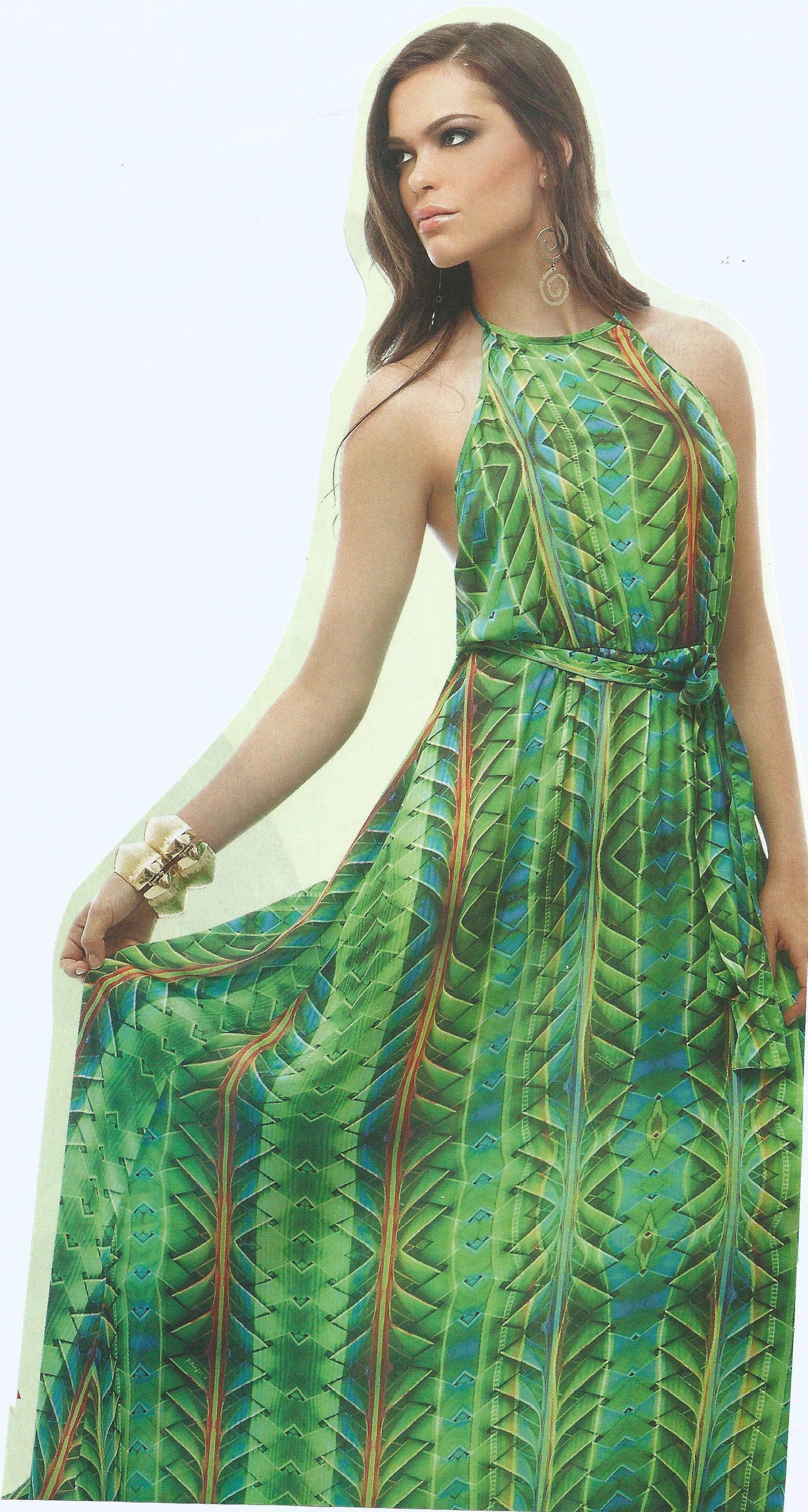 Molde de vestido longo simples