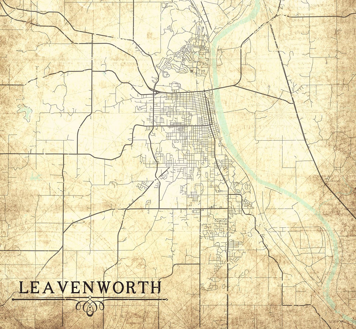 Leavenworth ks canvas print kansas ks vintage map gift home leavenworth ks canvas print kansas ks vintage map gift home decor city town plan vintage wall art map poster retro antique vintage wall art gumiabroncs
