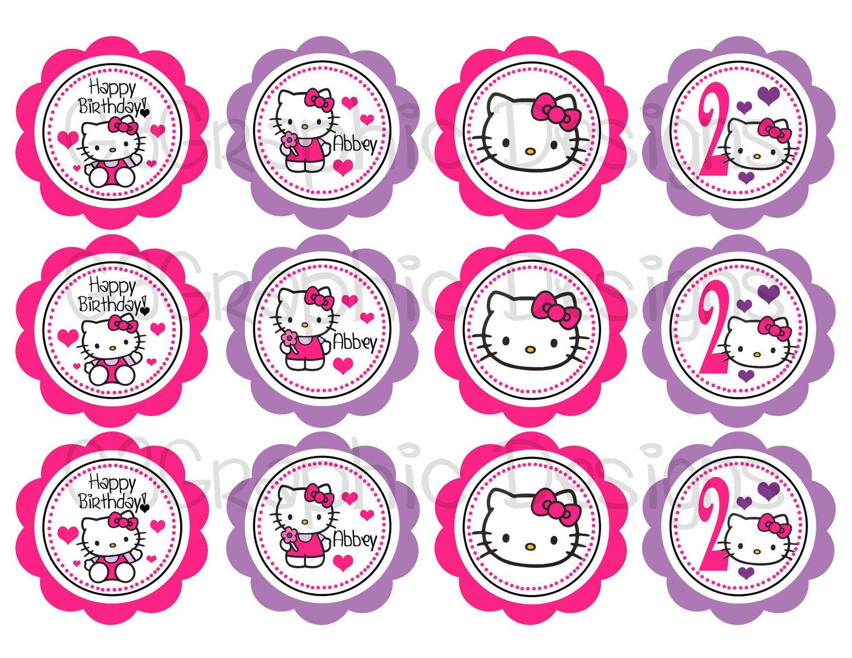 Diy printable hello kitty cupcake toppers 700 via etsy hello diy printable hello kitty cupcake toppers 700 via etsy maxwellsz