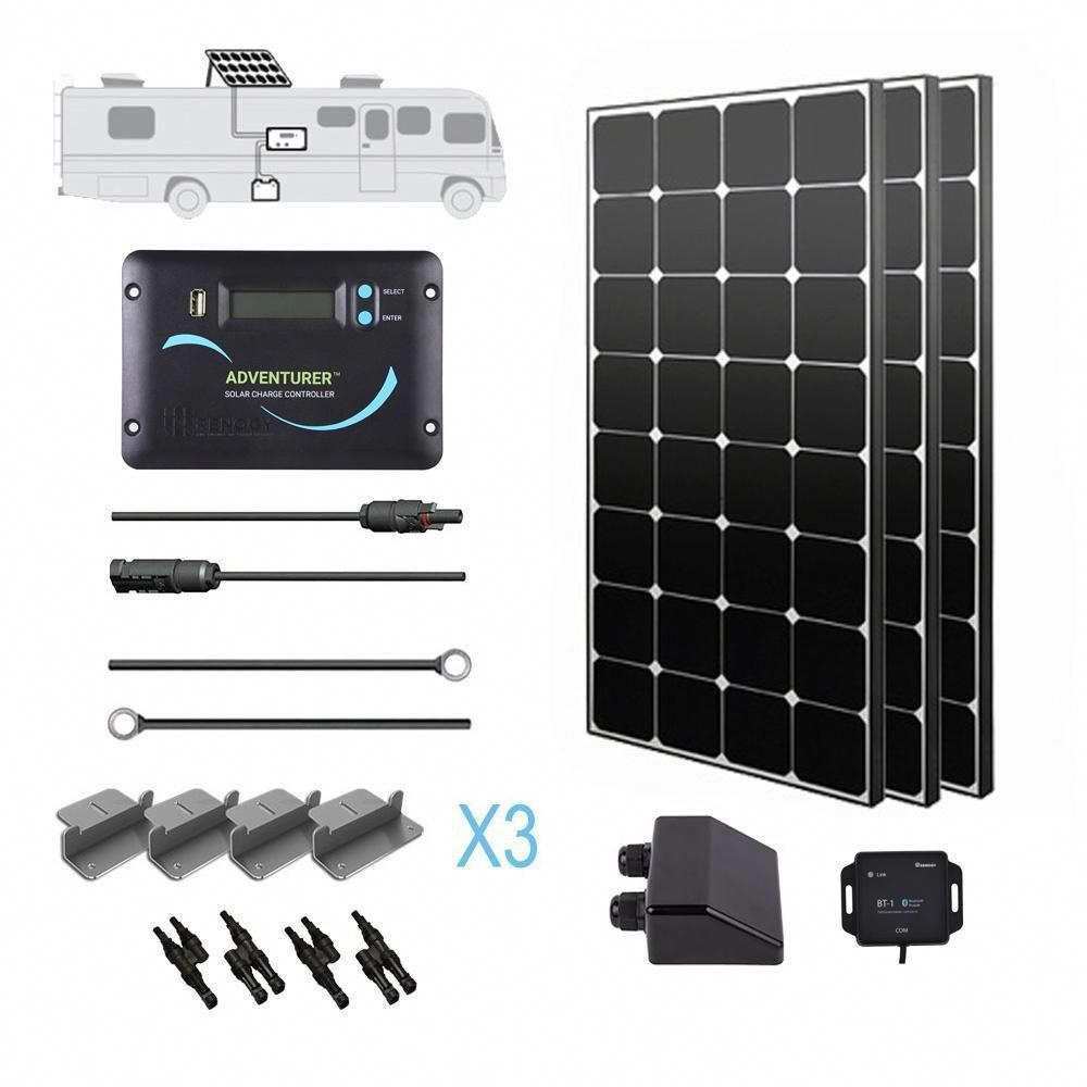 Renogy 300 Watt 12 Volt Eclipse Solar Rv Kit For Off Grid Solar System Solarpanels Solarenergy Solarpower In 2020 Solar Power Panels Best Solar Panels Off Grid Solar