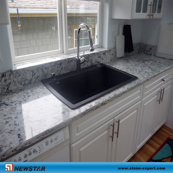 Grey Granite Bench Top -Black Sink