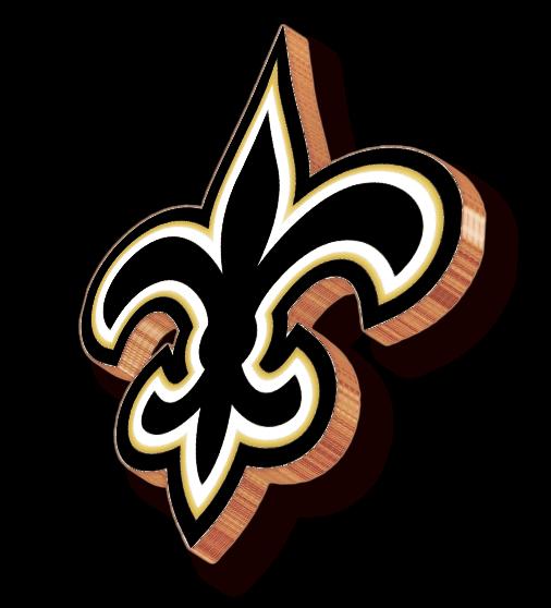 New Orleans Saints 3d Logo 3d Logos New Orleans Saints Saints New Orleans
