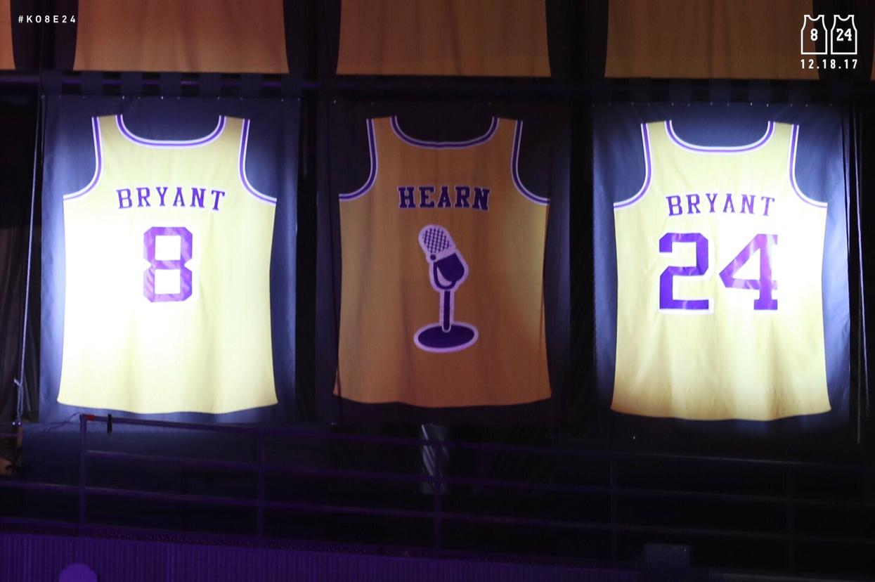 Kobe Bryant S Retired Jerseys 8 And 24 Kobe Bryant Kobe Bryant