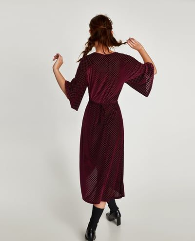 Zara Dan 2 Dugumlu Kadife Elbise Resmi Dresses Velvet Dress Dress Collection
