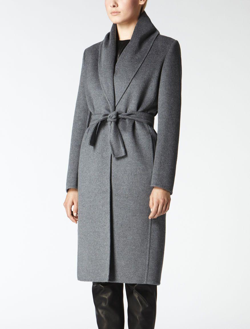 Grey pure cashmere coat, medium grey - Max Mara | Need one ...