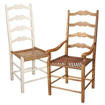 French Country Ladderback Chair | Choose A Seagrass Seat, V Weave Seagrass  Seat, Wood Seat, Or Snowshoe Seat.