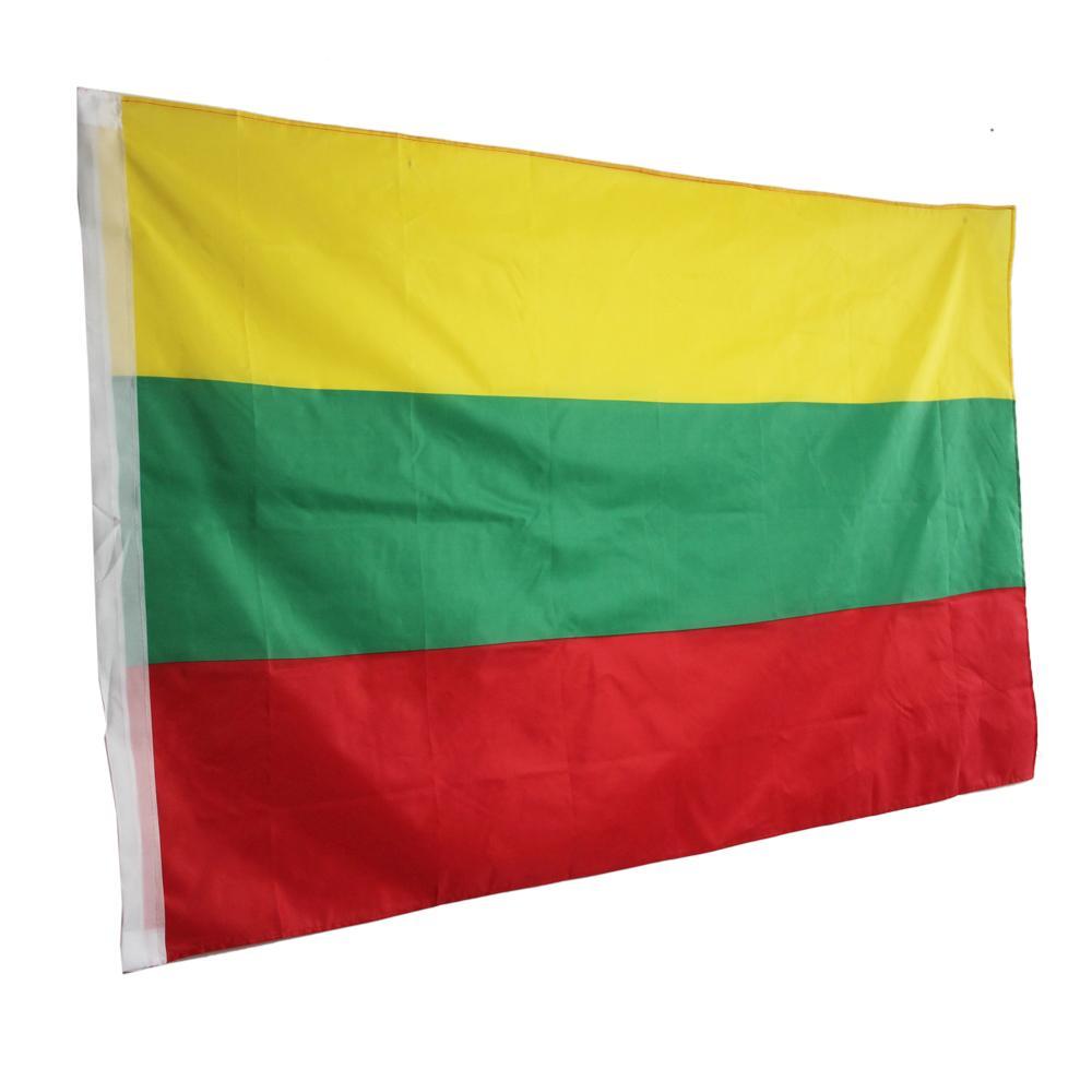 100 Metų Toliau Svenciam 90 X 150cm Lithuania National Flag Hanging Flag Polyester Lithuania Flag Outdoor Indoor Lithuania Flag National Flag Hanging Flags