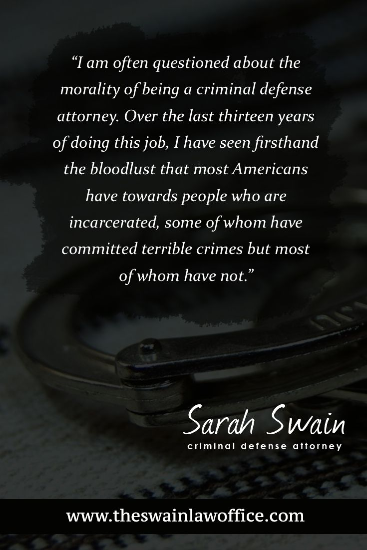 I Am Often Questioned About The Morality Of Being A Criminal