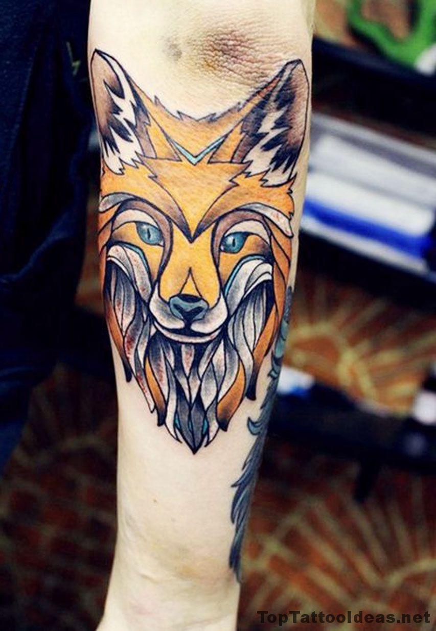 Fox Elbow Tattoo Idea Tattoos, Fox tattoo, Hipster tattoo