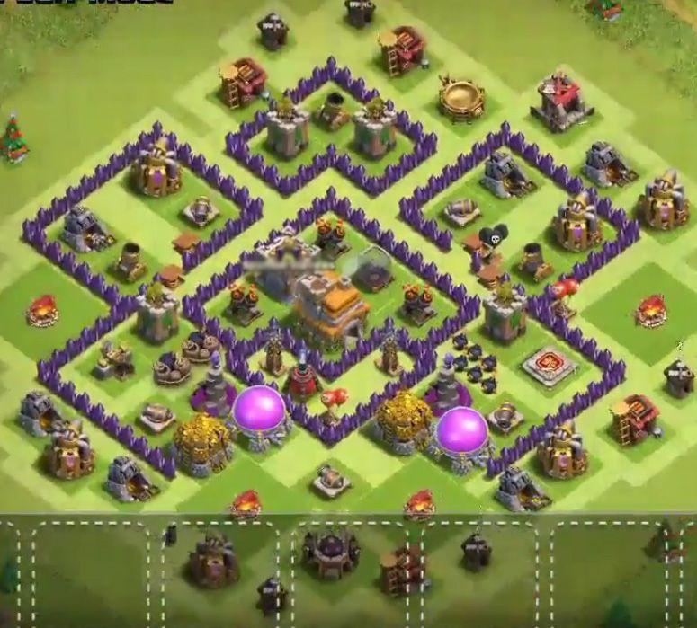Base Coc Th 7 Anti Bintang 3 8