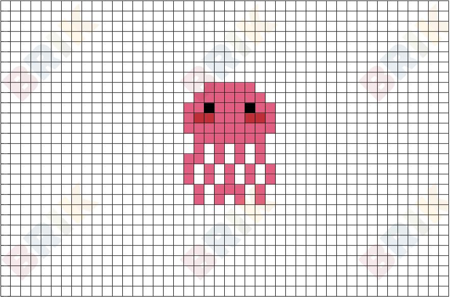 cute pink jellyfish bed Minecraft Mob Skin