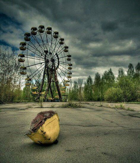 Geisterstadt Werend eines atom Unglück war ein großer Markt Alle mussten seine Sachen dort lassen