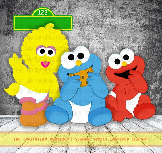 Item !!!! Baby Big Bird, Cookie and Elmo - Sesame street inspired ...