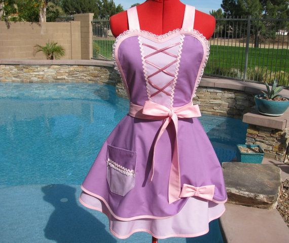 Princess Rapunzel inspired Sassy Apron, Scarlet Chic with Petticoat ...