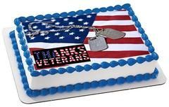 Veterans Day 1 Edible Birthday Cake Topper OR Cupcake Topper, Decor #veteransdaydecorations Professional Edible Cake Topper & Cupcake Toppers, kosher product. You order it today we'll ship it tomorrow, fast service. #veteransdaydecorations