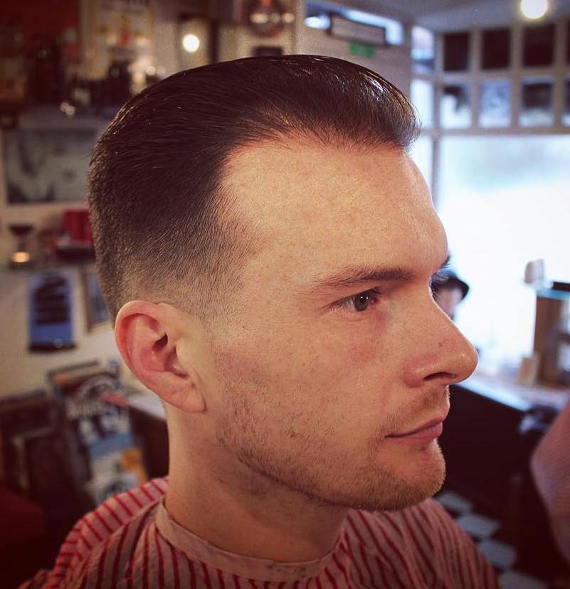 Receding Hairline Taper Fade Hair Loss Men Thin Hair Men Balding Mens Hairstyles
