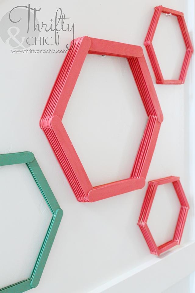 Popsicle Stick Honeycomb Wall Art   Walls, Craft and Stick crafts